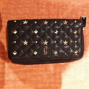 Juicy couture black studded wallet